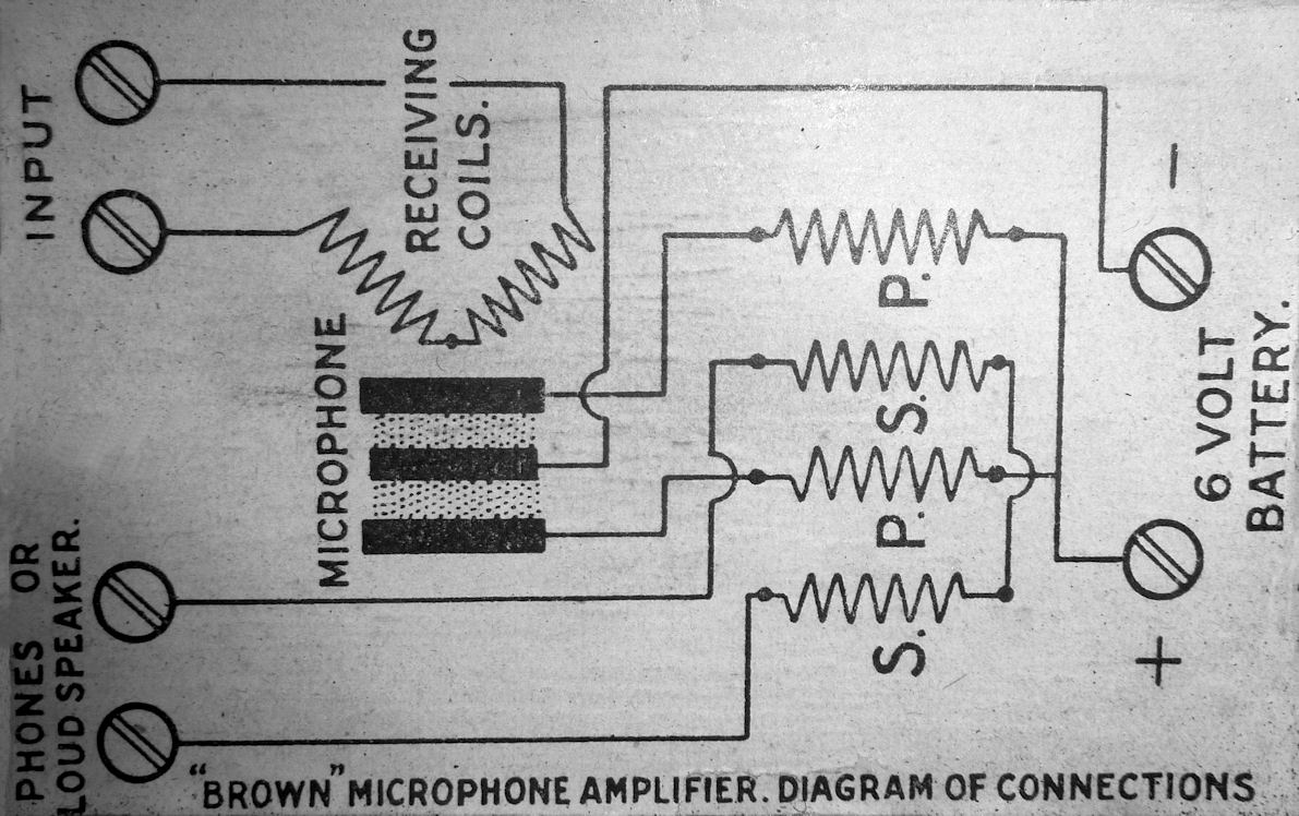Brown Microphone Amplifier Engels Xtal Wiring Diagram Click On The Circuit To Enlarge